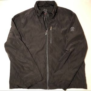 T Tech Tumi Dark Gray Blk Jacket Packable- Hood